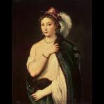 ティツィアーノ「羽飾りのある帽子をかぶった若い女性の肖像」の画像と絵画超解説【超初心者編】